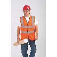 Hi-Visibility Orange Sleeveless Waistcoats Size M