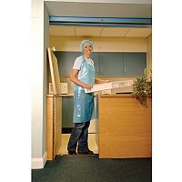 Disposable Polythene Aprons Blue Pack of 10