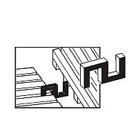 Vynagrip Heavy Duty Pvc Matting Connector Clips End To End, Side By Side