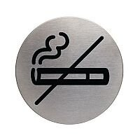 Stainless Steel Information Sign No Smoking