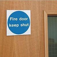 Self Adhesive Vinyl Fire Door Keep Shut Sign