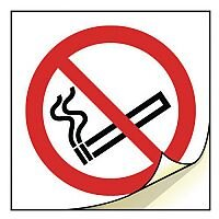 General Safety Labels No Smoking Roll of 20