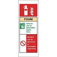 Self Adhesive Vinyl Fire Extinguisher Sign Foam