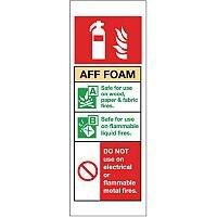 Self Adhesive Vinyl Fire Extinguisher Sign Aff Foam