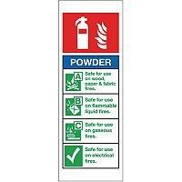 Self Adhesive Vinyl Fire Extinguisher Sign Powder