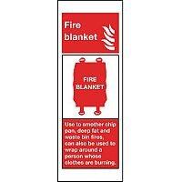 Vinyl Fire Blanket Sign