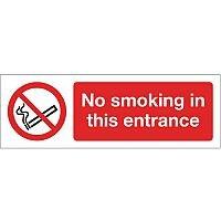 Self Adhesive Vinyl Smoking Prohibition Sign No Smoking In This Entrance