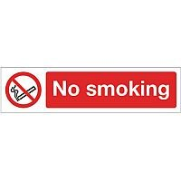 Aluminium Mini Prohibition Sign No Smoking
