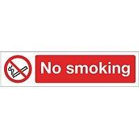 Rigid Plastic Mini Prohibition Sign No Smoking