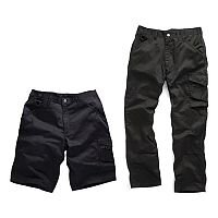 Worker Trousers And Shorts Pack Waist Size 30 Inch Regular Fit Black