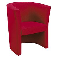 Fabric Upholstered Tub Armchair Claret