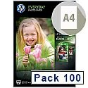 HP Everyday A4 Glossy Photo Paper 200gsm (Pack of 100)