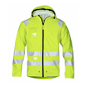Snickers 8233 High-Vis PU Rain Jacket Yellow Class 3