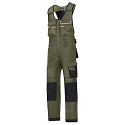 """Snickers 0312 Craftsmen One-piece Trousers DuraTwill Size 100 36""""/5'4"""" Olive Green/Black"""