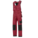 Snickers 0312 Craftsmen One-piece Trousers DuraTwill Red/Black