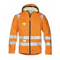 Snickers 8233 High-Vis PU Rain Jacket Orange Class 3