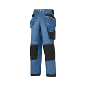 """Snickers 3212 Craftsmen 28""""/28"""" Holster Pocket Trousers DuraTwill Size 180 Blue/Black"""