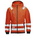 Snickers 8043 High-Vis Micro Fleece Hood Jacket Orange Class 3