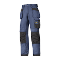 """Snickers 3213 Craftsmen Holster Pocket Trousers Rip-Stop Size 180 * 28""""/28"""" Navy/Black"""