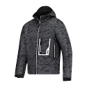 Snickers 1219 Soft Shell Steel Grey/Black Jacket with Hood