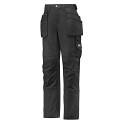 "Snickers 3714 Women's Holster Pocket Trousers Canvas+ Size 38 WAIST 28"" LEG 31"" Black"