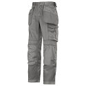 """Snickers 3212 Craftsmen 28""""/28"""" Holster Pocket Trousers DuraTwill Size 180 Grey"""