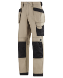 """Snickers 3214 Craftsmen Holster Pocket Trousers Canvas+ Size 180 * 28""""/28"""" Khaki/Black"""