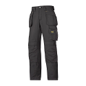"""Snickers 3213 Craftsmen Holster Pocket Trousers Rip-Stop Size 180 * 28""""/28"""" Black"""