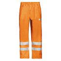 Snickers 8243 High-Vis PU Rain Trousers, Class 2 Size XS Orange