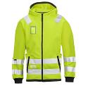 Snickers 8043 High-Vis Micro Fleece Hood Jacket Yellow Class 3