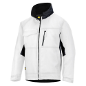 Snickers 1128 Craftsmens Winter Jacket White/Black Rip-stop