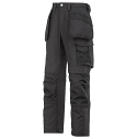 Snickers 3214 Canvas+ Trousers With Holster Pocket Black