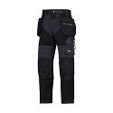 Snickers 6902 FlexiWork Work Trousers Holster Pockets Black