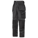 """Snickers 3212 Craftsmen 28""""/28"""" Holster Pocket Trousers DuraTwill Size 180 Black"""