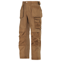 """Snickers 3214 Canvas+ Trousers With Holster Pocket Brown Waist 30"""" Inside leg 30"""""""
