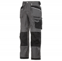"""Snickers 3212 Craftsmen 28""""/28"""" Holster Pocket Trousers DuraTwill Size 180 Muted Black/Black"""
