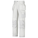 """Snickers 3214 Craftsmen Holster Pocket Trousers Canvas+ Size 180 * 28""""/28"""" White"""