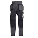 "6203 RuffWork, Work Trousers Holster Pockets Steel grey\Black - 5804 Size 184 28""/28"""