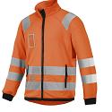 Snickers 8063 High-Vis Micro Fleece Jacket Orange Class 3
