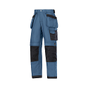 """Snickers 3214 Craftsmen Holster Pocket Trousers Canvas+ Size 180 * 28""""/28"""" Blue/Black"""