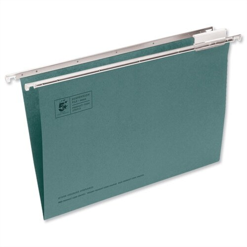 Foolscap Green Suspension File Heavyweight With Tabs And