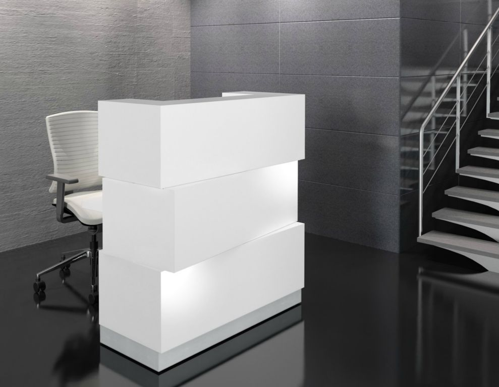 Zen Reception Desk White Huntoffice Co Uk