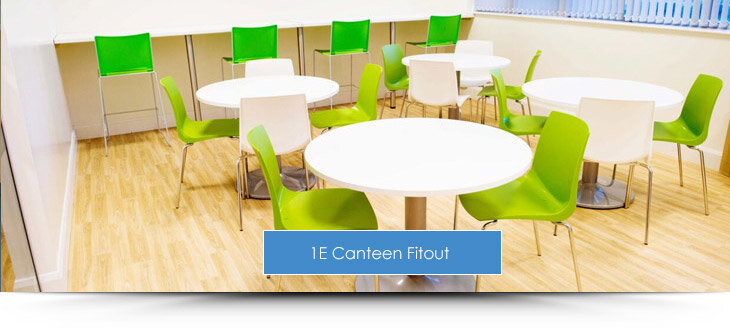 1E Dublin Office Canteen Fit Out by HuntOffice Interiors