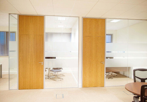 1E Office Fitout Project Dublin Partitioning
