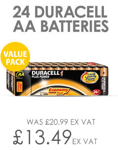 Duracell Plus Power 1.5V AA Alkaline Battery 81275383 Pack 24