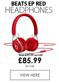 Beats EP Headphones with Mic Wired Red