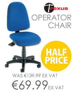 Asynchronous High Back Office Operator Chair Blue Trexus