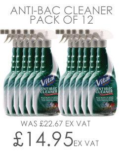 Vital Fresh Antibacterial Cleaner 750ml 12 Pack WX00202
