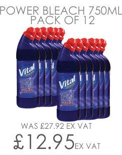 Vital Fresh Power Bleach 750ml Pack of 12 WX00208