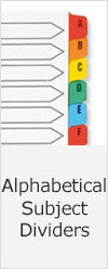 Alphabetical Subject Dividers